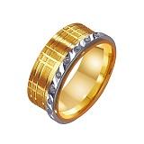 Золотое обручальное кольцо Феерия блеска