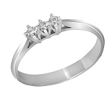 Кольцо из белого золота Моника с бриллиантами