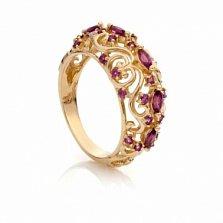 Золотое кольцо с гранатами Хюррем