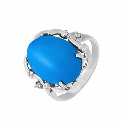 Серебряное кольцо Гарриет с бирюзой и фианитами