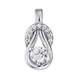 Серебряный кулон Аджани с кристаллами циркония