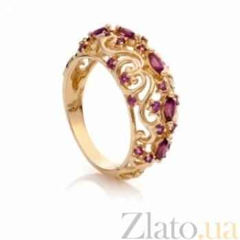 Золотое кольцо с гранатами Хюррем 000030645