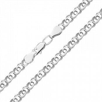 Серебряный браслет в плетении арабский бисмарк 000140443