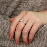 Серебряное кольцо Принцесса с желтым фианитом
