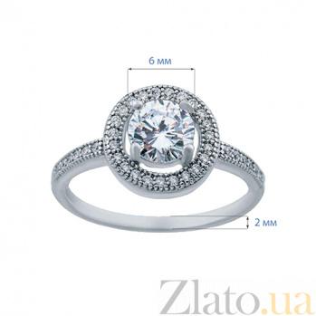 Серебряное кольцо с цирконами Делия AQA--KSRJR106