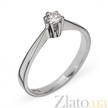 Кольцо из белого золота с бриллиантом Каролина R0673