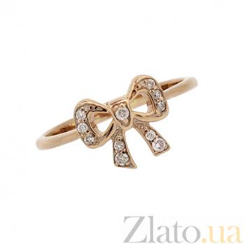 Золотое кольцо с бриллиантами Бантик ZMX--RD-00203_K
