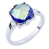Серебряное кольцо Наина с топазом мистик