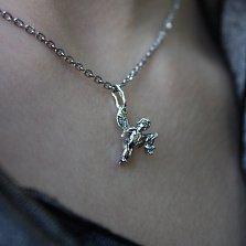 Серебряная подвеска с фианитом Милый ангелочек