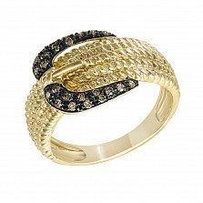 Кольцо из желтого золота Веста с бриллиантами