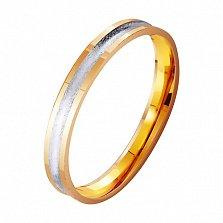 Обручальное кольцо из комбинированного золота Светлое будущее