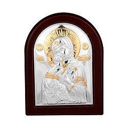 Икона Божия Матерь Владимирская с серебром и позолотой 000140129