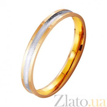 Обручальное кольцо из комбинированного золота Светлое будущее TRF--411764