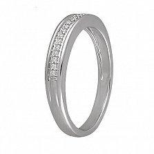 Обручальное кольцо Торжество из белого золота с бриллиантами