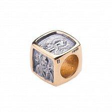 Серебряный шарм-ладанка Деисус с позолотой и чернением