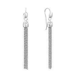 Серебряные серьги-подвески 000136119