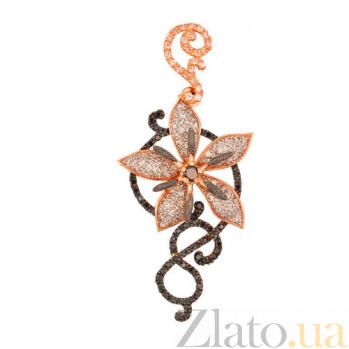 Кулон из красного золота Цветок VLT--ТТ3350-3