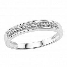 Кольцо Британия из белого золота с бриллиантами