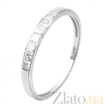 Кольцо из белого золота Эмилиена с бриллиантами 000007674