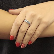 Серебряное кольцо Каролина с кварцем под лондон топаз и голубым кварцем