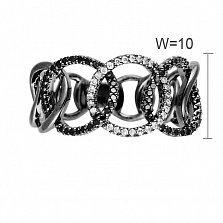 Кольцо из черного золота Шик с бриллиантами