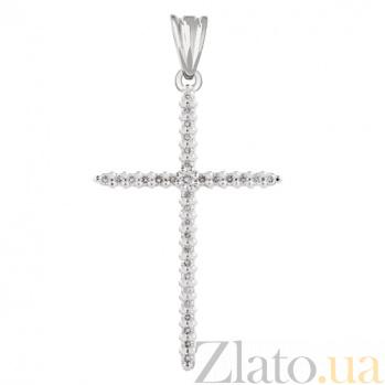 Крест из белого золота с бриллиантами Эдем KBL--П090/бел/брил