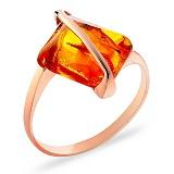 Кольцо из золота с янтарем Глоток солнца