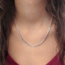 Серебряная цепочка Даллас в панцирном плетении с алмазной гранью, 4мм
