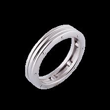 Женское обручальное кольцо Линии судьбы в белом золоте