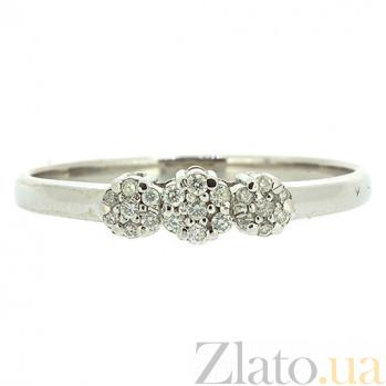 Кольцо из белого золота с бриллиантами Дашери 000021452