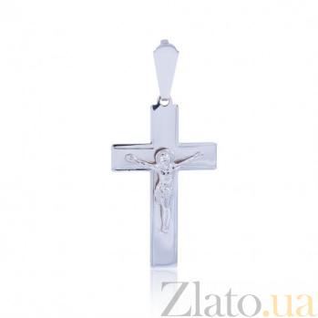 Крестик из белого золота Миг EDM--КР0105Б