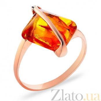Кольцо из золота с янтарем Глоток солнца SUF--153295