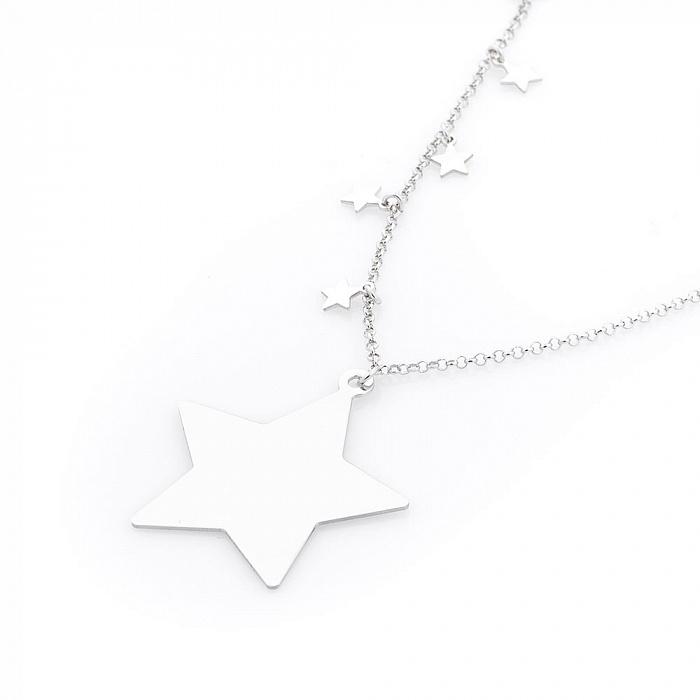 Серебряное колье Созвездие 000080295