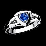 Сапфировое кольцо в белом золоте Dream & Love