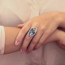 Серебряное кольцо Мозаика с лазуритом, яшмой и перламутром
