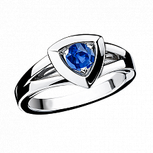 Сапфировое кольцо в белом золоте Dream n Love