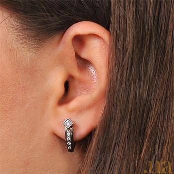 Серьги из белого золота с бриллиантами Маргарет EDM-С7412/1