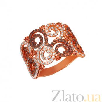 Золотое кольцо Фриволите с цирконием VLT--ТТТ1071-3