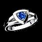 Сапфировое кольцо в белом золоте Dream & Love R-BDL-W-sap