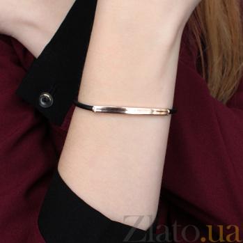 Каучуковый браслет Мельбурн с золотыми вставкой и застежкой, 3мм 000047054