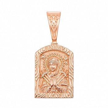 Ладанка Божья Матерь Семистрельная из красного золота 000126483