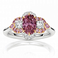 Кольцо Argile из белого и розового золота с бриллиантами и розовыми сапфирами R-cjAr-W/R-19s-20d