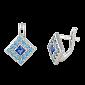 Серьги из серебра с цирконием Зинаре SLX--СК2ФСТ/025