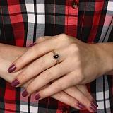 Кольцо Ирина из золота с бриллиантами и сапфиром