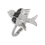 Серебряное кольцо с фианитами Полет фантазии