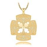 Крестик из желтого золота с бриллиантом Тайна: Источник