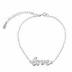 Серебряный браслет Love 000027953