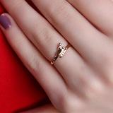 Золотое кольцо Стопа с цирконами