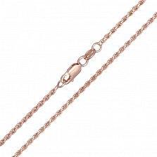 Серебряная цепочка Шанхай с позолотой, 1 мм