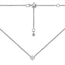 Колье из белого золота с кристаллом Swarovski 000135781